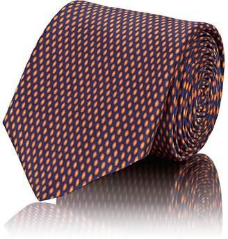 Barneys New York Men's Oval-Micro-Dot Silk Satin Necktie