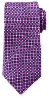 Kiton Men's Micro Circles Tie, Purple
