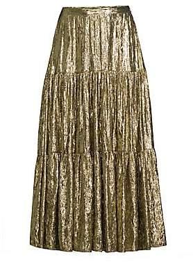 Michael Kors Women's Tiered Midi Skirt