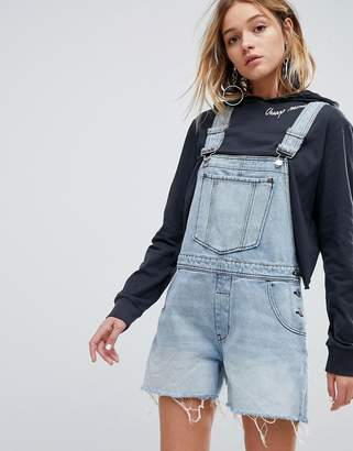 Cheap Monday 90s Style Overall in Rigid Denim