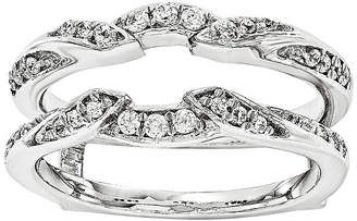 MODERN BRIDE 1/3 CT. T.W. Diamond 14K White Gold Ring Guard
