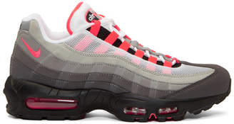 Nike Grey and Pink Air Max 95 OG Sneakers