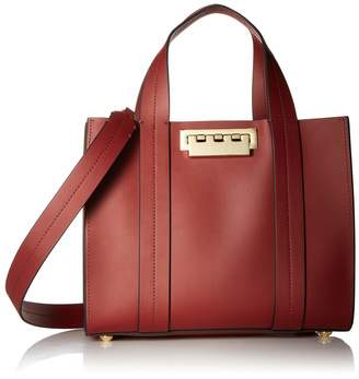 Zac Posen Eartha Iconic Small Shopper Smoked Merlot