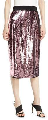 Milly Sequin Midi Skirt