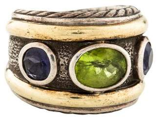David Yurman Peridot & Iolite Renaissance Ring