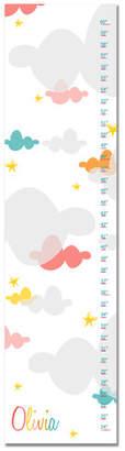 Zoomie Kids Hawk Ridge Clouds Canvas Personalized Growth Chart