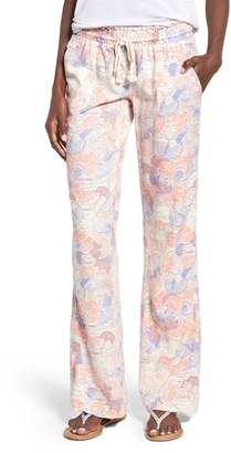 Roxy 'Oceanside' Print Drawstring Woven Pants $44.50 thestylecure.com