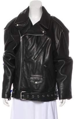 Vetements x Schott 2018 Oversize Leather Jacket