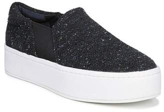 Vince Warren Tweed Platform Slip-On Sneaker