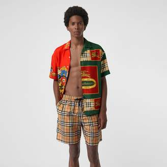 Burberry Vintage Check Drawcord Swim Shorts