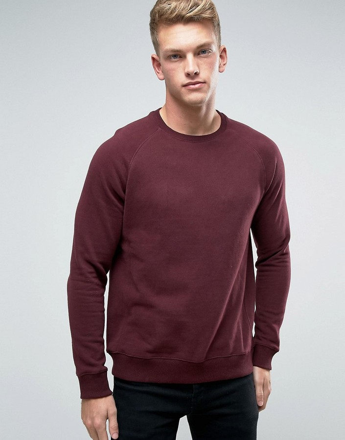 Burton Menswear Burgundy Sweat