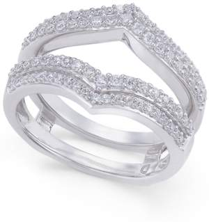 Macy's Diamond Double V Solitaire Enhancer Ring Guard (1/2 ct. t.w.) in 14k White Gold