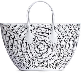 Alaia Black and white large tote bag