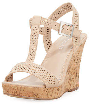 Charles by Charles David Law Laser-Cut Microsude Wedge Sandal