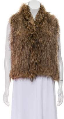 Yves Salomon Mock Neck Fur Vest