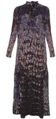 Raquel Allegra Silk-chiffon tie-dye maxi dress
