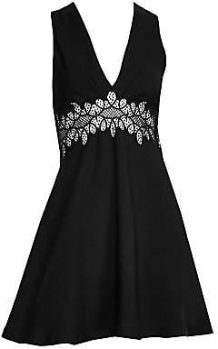 Sandro Women's Elena Lace Inset Fit-&-Flare Dress