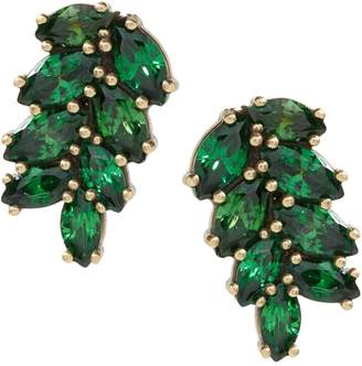 Banana Republic Jeweled Palm Leaf Stud Earring