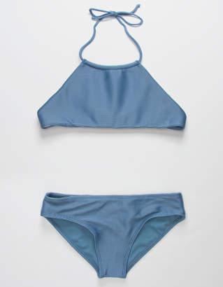 Full Tilt High Neck Rib Girls Bikini Set