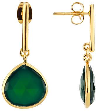John Lewis & Partners Semi-Precious Stone Drop Earrings, Green Onyx
