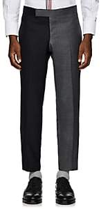 Thom Browne Men's Striped Two-Tone Wool Trousers - Gray