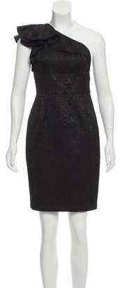 Carmen Marc Valvo One-Shoulder Mini Dress