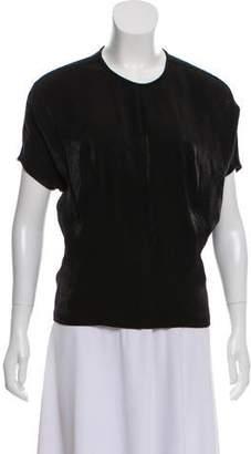 Calvin Klein Collection Metallic-Accented Short Sleeve Top