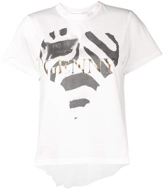 Genny zebra print heart T-shirt