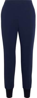 Stella McCartney Woman Stretch-cady Tapered Pants Indigo Size 44