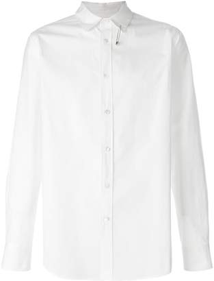 Sacai safety pin collared shirt