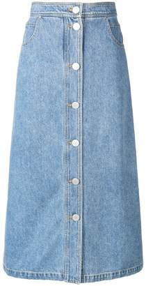 Christian Wijnants light washed denim skirt