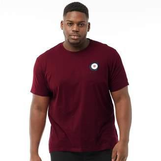 Ben Sherman Plus Size Medium Target T-Shirt Burgundy
