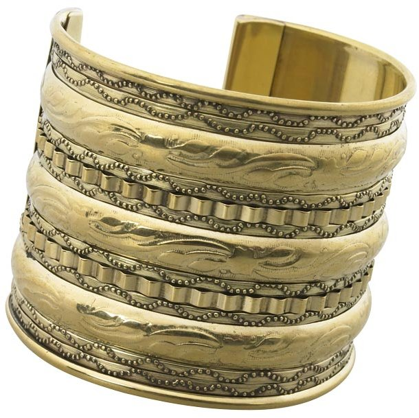 Embossed pattern cuff