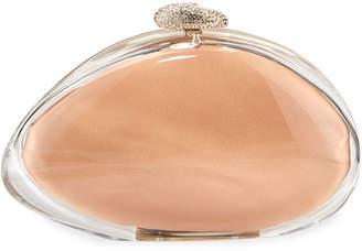 Benedetta Bruzziches Ariel Glitter Transparent Clutch Bag