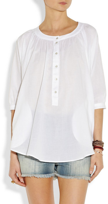 MiH Jeans Cotton-muslin shirt