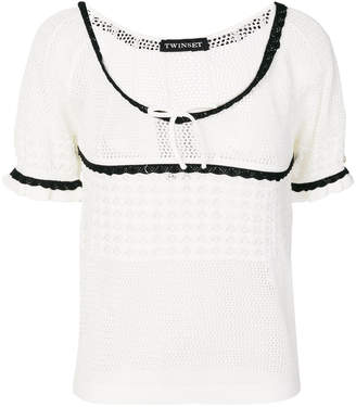 Twin-Set shortsleeved empire knit top