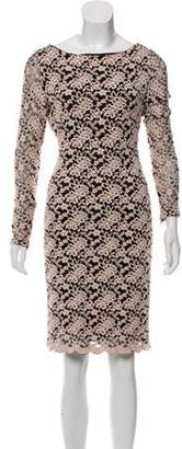 Alice + Olivia Jacquard Open Back Dress Champagne Jacquard Open Back Dress