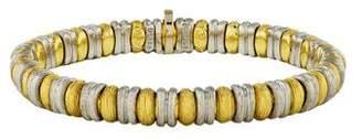 Henry Dunay Two-Tone Sabi Textured Link Bracelet