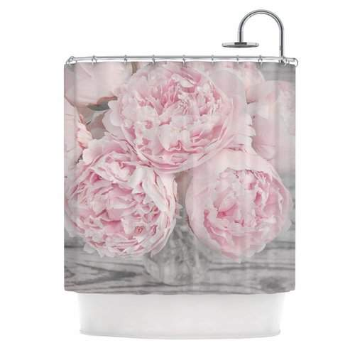 East Urban Home Peony Flowers Shower Curtain