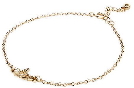 River Island Womens Gold tone Leo bracelet