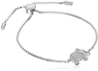 Sterling Silver Elephant Bolo Adjustable Bracelet