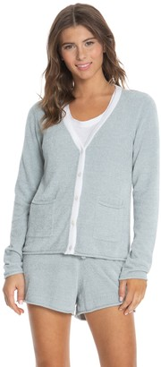 Barefoot Dreams Cozychic Ultra Lite Contrast Tipped Cardigan