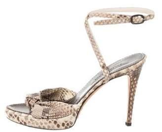 Ralph Lauren Python Ankle Strap Sandals multicolor Python Ankle Strap Sandals