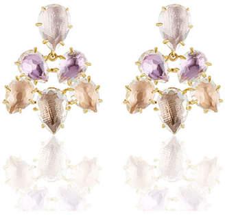 Larkspur & Hawk Caterina Chandelier Earrings in Ballet, Rose, Bellini & Fawn Foils