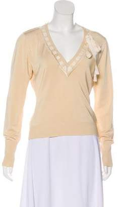 Valentino Long Sleeve Knit Top
