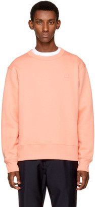 Acne Studios Pink Fairview Face Sweatshirt $240 thestylecure.com