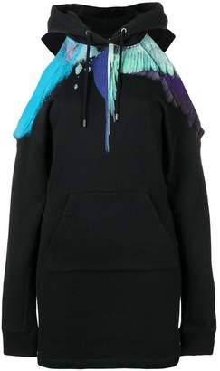 Marcelo Burlon County of Milan sprayed wings hoodie dress