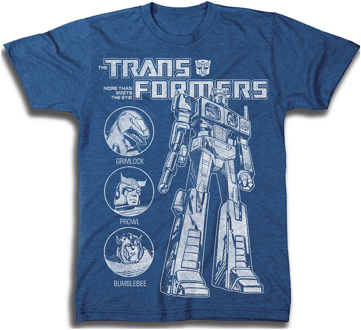 Novelty T-Shirts Marvel Transformers Graphic Tee