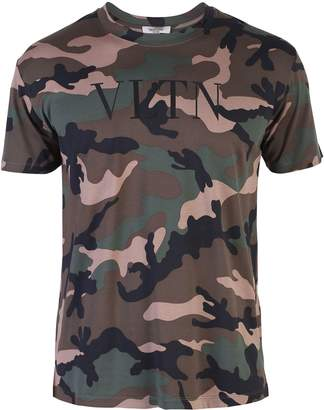 Valentino Green Branded T-shirt