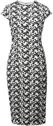 Lela Rose embroidered midi dress